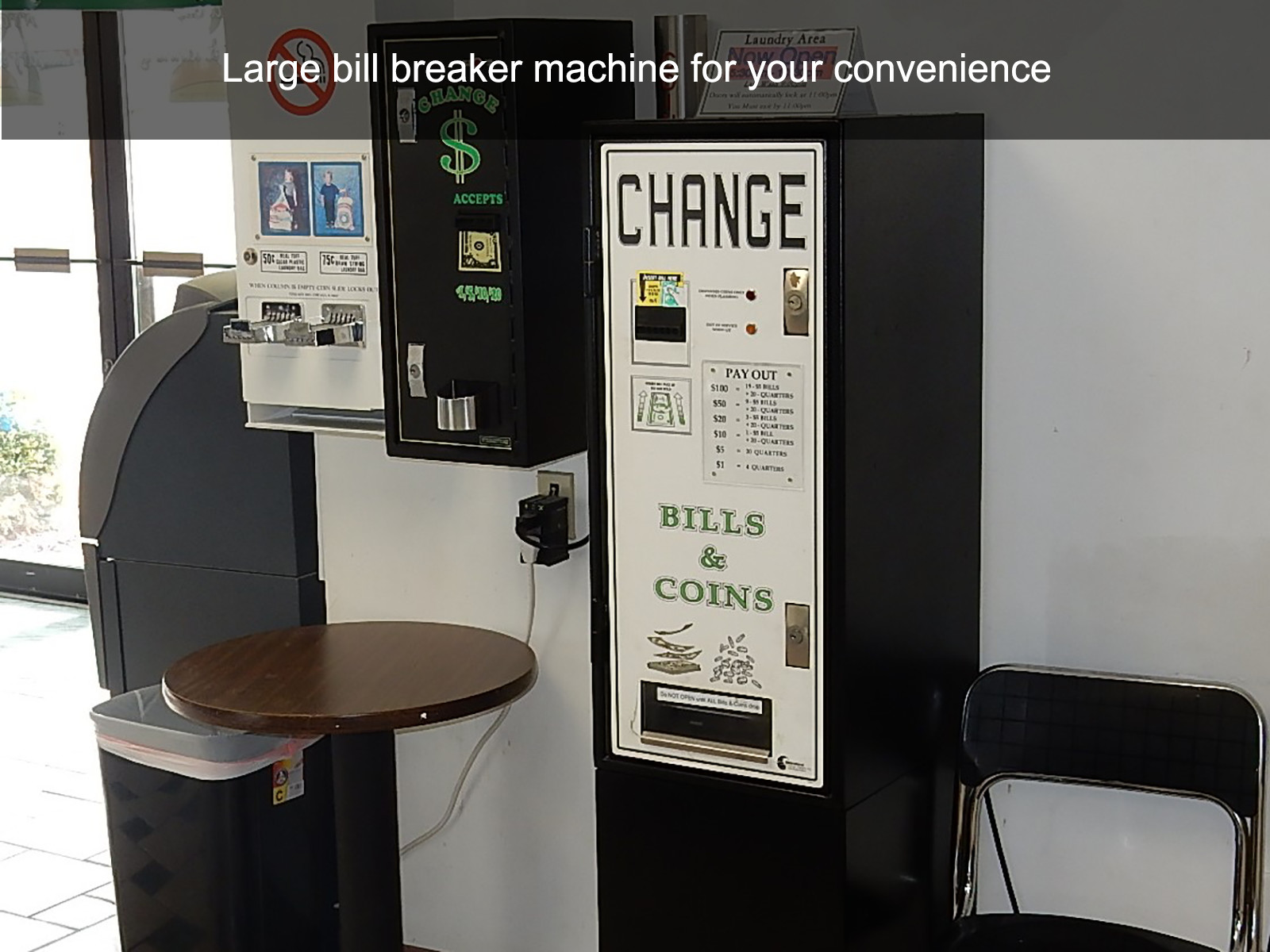 Large bill breaker machine for your convenience