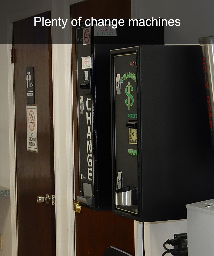 Plenty of change machines