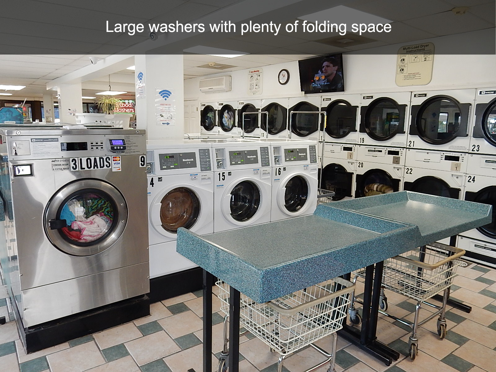 Large washers with plenty of folding space