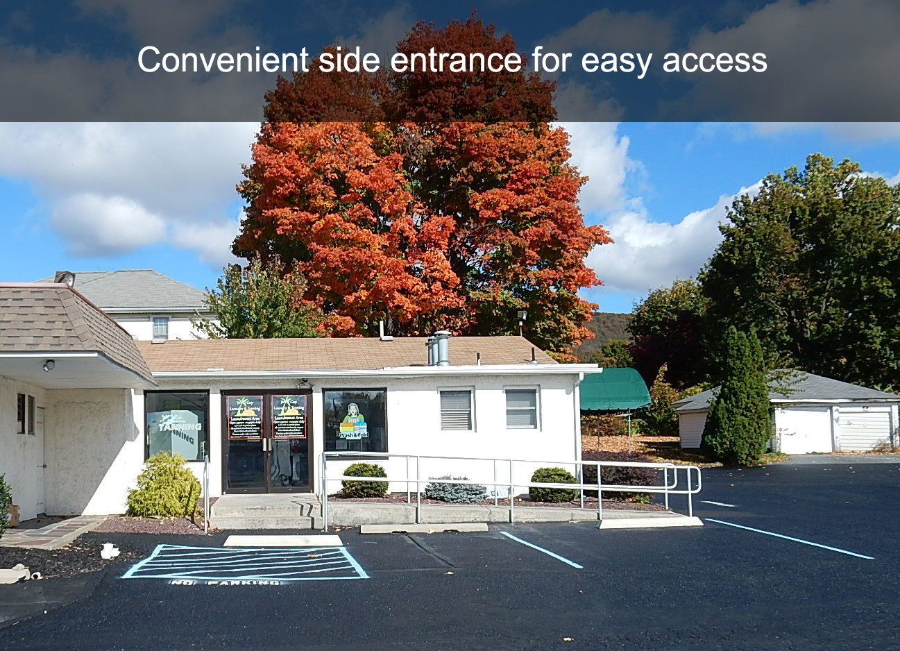 Convenient side entrance for easy access