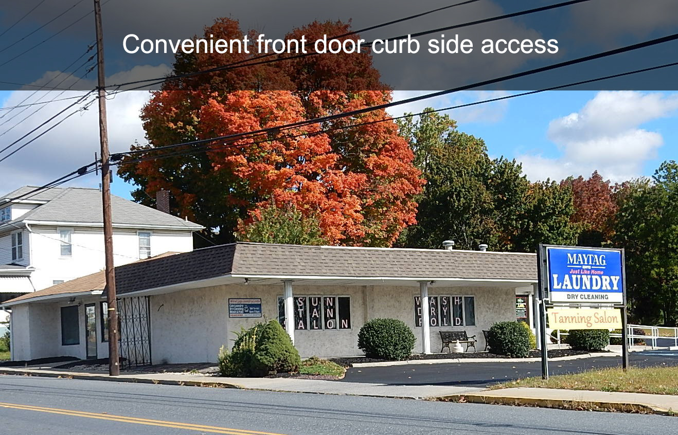 Convenient front door curb side access