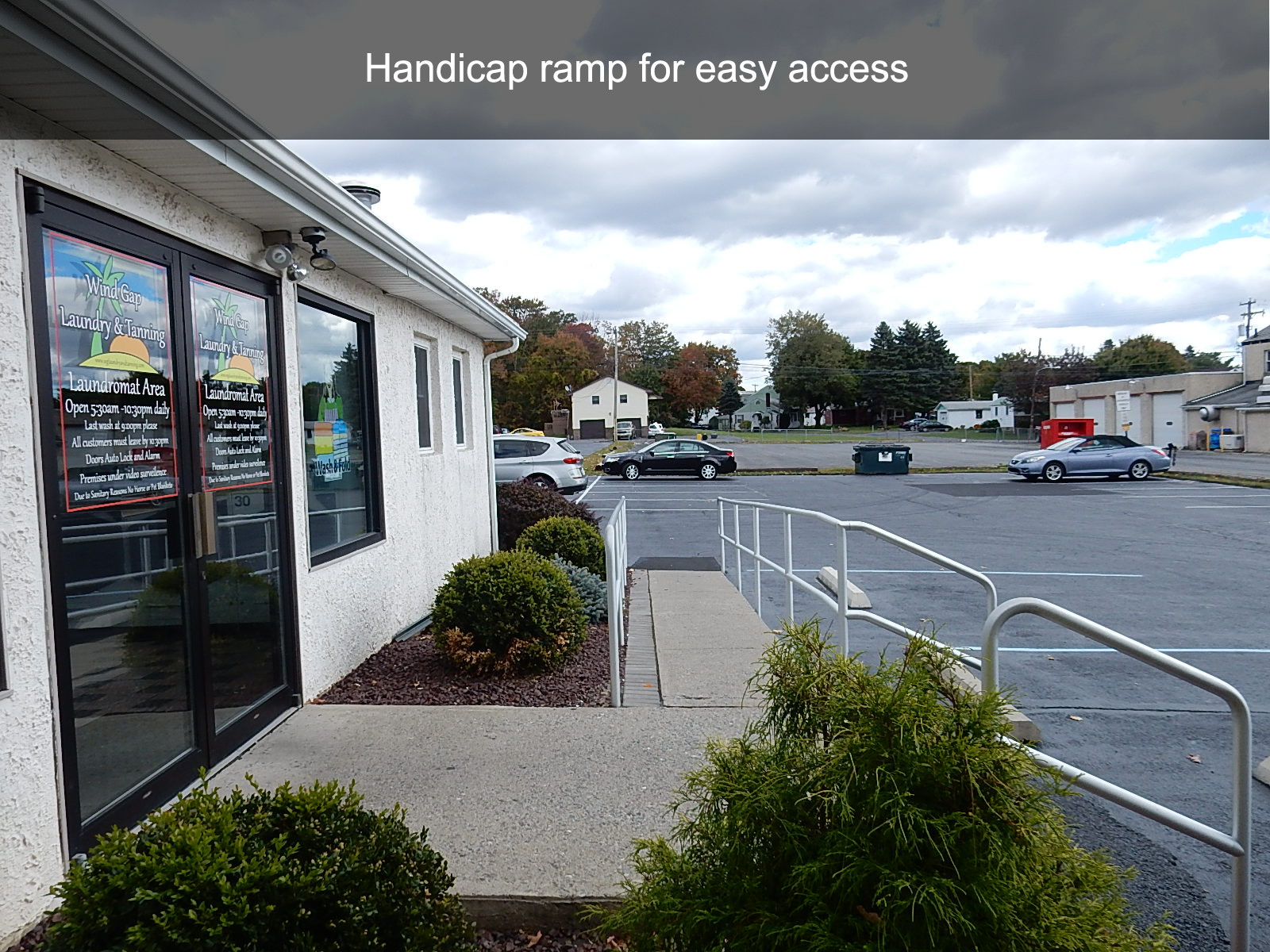 Handicap ramp for easy access
